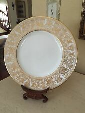 """Wedgwood Gold Florentine Dinner Plate 10.5"""" Excellent! More Available!"""