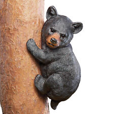 Bear Tree Climber Decoration, Black, by Collections Etc