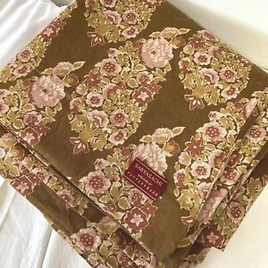 SABYASACHI for POTTERY BARN MAHARANI BROWN FLORAL DUVET COVER FULL/QUEEN 92X88
