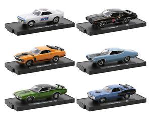2021 MACHINES M2 Machines 1:64 Drivers Release Cuda, Charger, Camaro, GTO 28-74