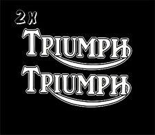 x2 Triumph Vinyl Decal Sticker Motorbike Tank Car Van  Clssic Retro laptop