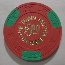 THE TOWN TAVERN 5 DOLLAR LAS VEGAS CASINO POKER CHIP