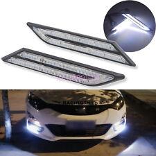 2x Car HID White LED Daytime Running Light DRL Fog Lamp Daylight Blade Shape 12V