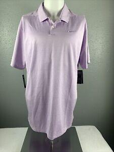 Men's Nike Dry Short Sleeve Polo Golf Shirt Light Purple Size XL AT8870-543