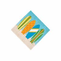 Surf'S Up Beverage Napkins - Party Supplies - 16 Pieces