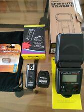 Speedlite Yongnuo YN468-ii et Wireless flash Trigger RF-602/N pour Nikon TBE