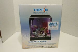 Top fin 3 gallon fish Aquarium with back light