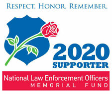 2020 NATIONAL LAW ENFORCEMENT OFFICERS MEMORIAL FUND POLICE PBA SUPPORTER DECAL