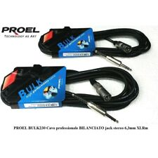 PROEL BULK230LU5 coppia cavi bilanciati professionali XLR JACK 5 metri 2  UNITA  5b926ab096b8