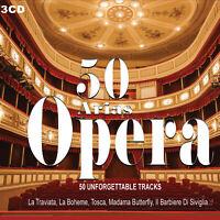 3CD 50 Arias Opera , Maria Callas Pavarotti Traviata, Il Barbier Di Séville