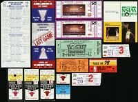 1970's-1990's NBA and College Basketball Tickets, Stubs, and Other Memorabilia