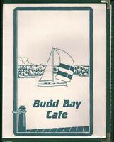 BUDD BAY CAFE Restaurant Menu Olympia Washington