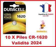 10 Piles CR-1620- DL-1620 DURACELL bouton Lithium 3V DLC 2024