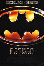 BATMAN (1989) ORIGINAL MOVIE POSTER  -  U.S. ONE-SHEET - FRENCH CREDITS - ROLLED