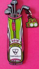 2018 Top Golf Tricentennial 300 Fiesta Medal Golf Clubs Golf Bag Pinback Medal !