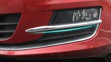 2* Chrome Front Fog Light Lamp Eyebrow Cover Trim  for VW Golf 7 MK7 2014 2015
