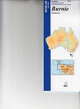 Natmap 1:250,000 Scale Map of Tasmania - Burnie - brand new latest edition