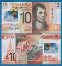 Scotland 10 Pounds P New 2017 UNC Polymer CLYDESDALE Low Shipping! Combine FREE!