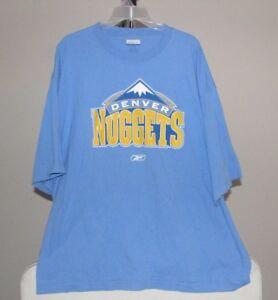 Denver Nuggets NBA Reebok Classic Blue Team Logo 2XL T-Shirt