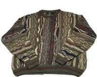 Vintage The Italian Sweater Co. Coogi Style Cosby Textured Sweatshirt Men Sz XL