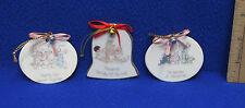 Lot 3 Precious Moments Porcelain Ornaments Christmas Way of Lord Sharing Seasons