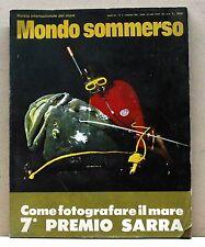 MONDO SOMMERSO [rivista, maggio 1970, come fotografare il mare, premio sarra]