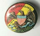 WW1 US Army  Reconnaissance 1914-15 Tin button Pin Badge 22 mm