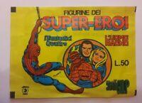 BUSTINA FIGURINE SUPER EROI  uomo ragno  fantastici quattro CORNO - SIGILLATA