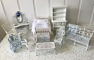Dolls house miniature 1:12 SHABBY CHIC furniture job lot - COLLECTION ONLY