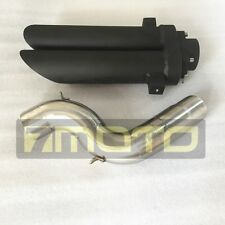 Black Taper Exhaust Pipe KAWASAKI ZX6R ZX-6R 636 2004 2005 2006 2007 2008