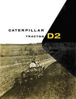 Caterpillar D2 4U 5U Diesel Tractor Sales Book 1953