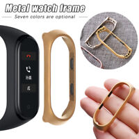 Metal Protective Frame Watch Accessories Case Shell For Xiaomi Mi Band 3 4