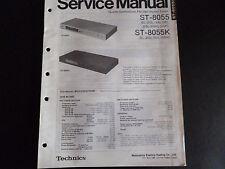 ORIGINALI service manual TECHNICS STEREO FM/AM sereotuner st-8055 st-8055 K