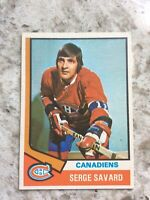 1974-75 OPC O PEE CHEE Hockey #53 Serge Savard EX-NM MONTREAL CANADIENS Card
