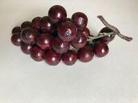 "Vintage Acrylic Resin Lucite Grape Cluster purple 8"" mid century modern"