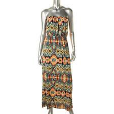 Trixxi 0800 Womens Multi Matte Jersey Printed Maxi Casual Dress S BHFO