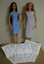 """Scooped Back Fitted Sheath Pattern 22AM01 For Tonner's 22"""" American Model Dolls"""