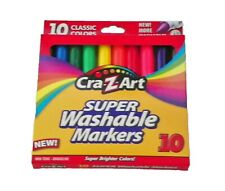 Cra Z Art 10 Pack Classic Super Washable Markers With Brighter Colors Non Toxic