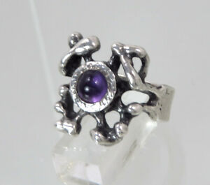 DESIGN Amethyst Silber Ring ° von OLY ° VINTAGE SILVER RING 835   Ringgrösse 54