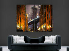 BROOKLYN BRIDGE NEW YORK  POSTER STREET USA ART PICTURE PRINT LARGE