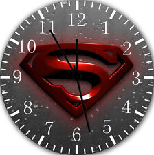 """Superman wall Clock 10"""" will be nice Gift and Room wall Decor W223"""