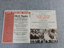 Vintage Gone With The Wind Redwood Falls Theater MN Flyer Program
