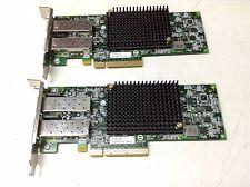 Lot of 2xEmulex 10GB Dual Port PCIe Host Bus Adapter (HBA) P004476 EMU-P004096