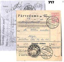 Y97 1931 Latvia Parcel Card *ZEHSIS* to Riga PTS