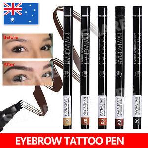 Microblading Tattoo Eyebrow Ink Pen Eye Brow Pencil Brow Enhancer Stencil AU