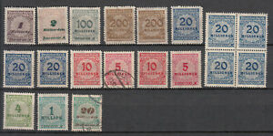 Germany - 1923 Inflation Rosetten broken ornament stamp lot - MNH/MH/Used (8894)