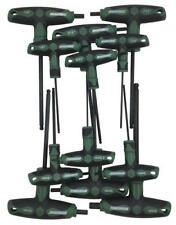T-Handle Ball End Hex Key Set  SAE/Metric,12 Piece