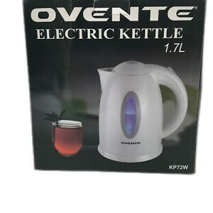 Ovente KP72W Portable Tea Maker With LED Indicator Light 1.7L Electric Kettle