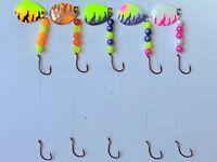 5 Spinner Rigs Walleye Floater Harness # 3 UV Colorado Blades
