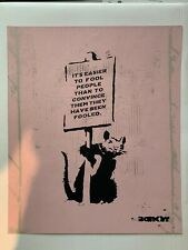 The Real Not Banksy - April Fools screen-print Signed with COA Pest Control